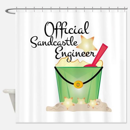 Sandcastle Engineer Shower Curtain