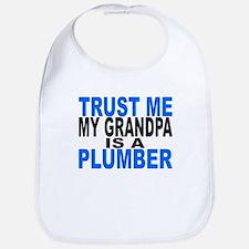 Trust Me My Grandpa Is A Plumber Bib