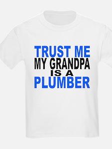 Trust Me My Grandpa Is A Plumber T-Shirt