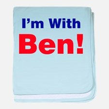 I'm With Ben Carson baby blanket