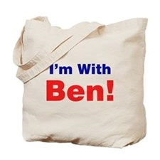 I'm With Ben Carson Tote Bag