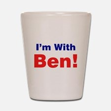 I'm With Ben Carson Shot Glass