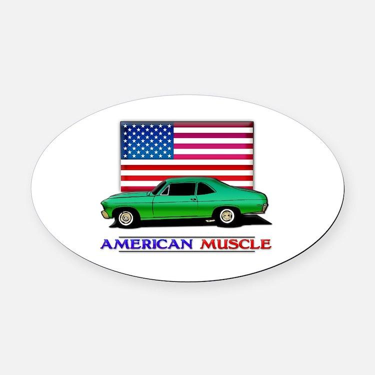 American Muscle Nova Oval Car Magnet