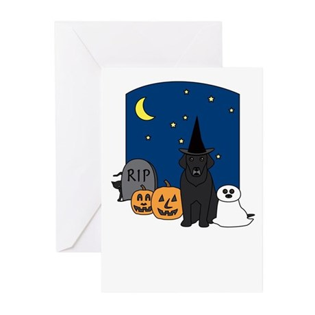 Lab Howling Halloween Greeting Cards (Pk of 20)