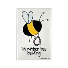 i'd rather bee beading Rectangle Magnet