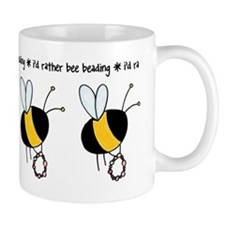 i'd rather bee beading Mug