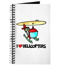 I Love Helicopter Journal
