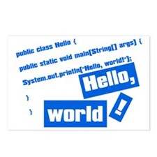 Hello, World! Postcards (Package of 8)