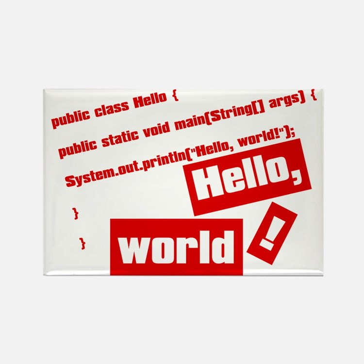 Hello, World! Rectangle Magnet