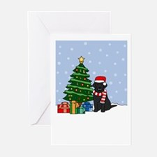 Black Lab Season's Best Greeting Cards (Pk of 20)