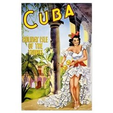 Cuba holiday isle of the tropics Vintage Poster Poster