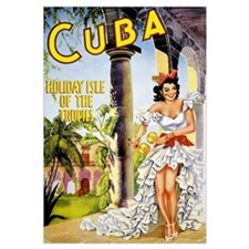 Cuba holiday isle of the tropics Vintage Poster