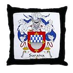Saraiva Family Crest Throw Pillow