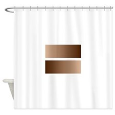 Black White Race Equality Equal Sig Shower Curtain