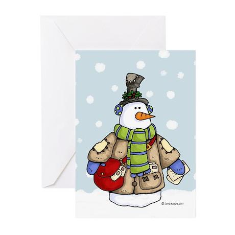Postal snowman Greeting Cards (Pk of 20)