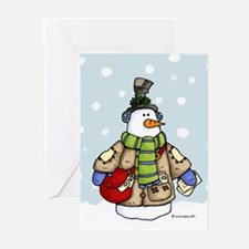 Postal snowman Greeting Cards (Pk of 20)