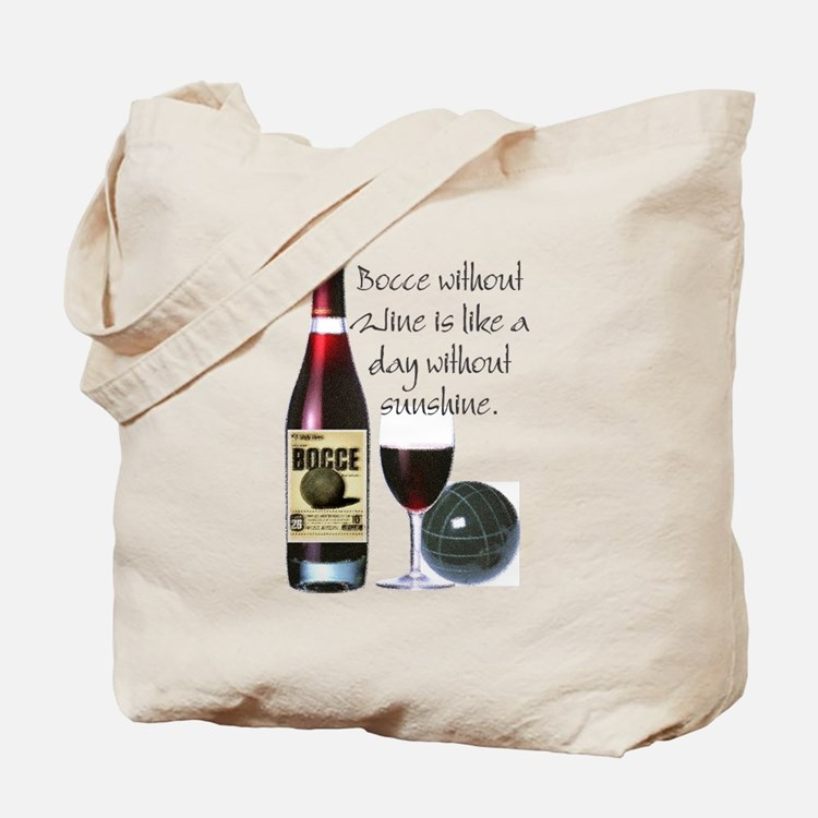 Bocce and Wine Tote Bag