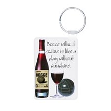 Bocce and Wine Keychains