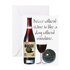 Bocce and Wine Greeting Card