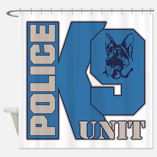 Police K9 Unit Dog Shower Curtain