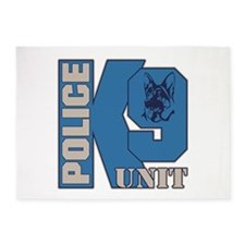 Police K9 Unit Dog 5'x7'Area Rug