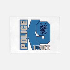 Police K9 Unit Dog 5'x7'Area Rug