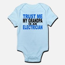 Trust Me My Grandpa Is An Electrician Body Suit