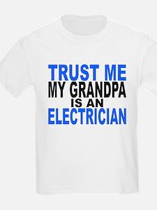 Trust Me My Grandpa Is An Electrician T-Shirt