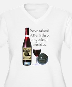Bocce and Wine Plus Size T-Shirt