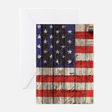 USA flag western country Greeting Cards