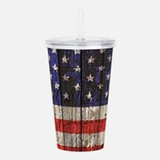 USA flag western count Acrylic Double-wall Tumbler