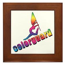 Colorful Colorguard Framed Tile