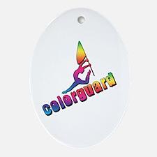 Colorful Colorguard Oval Ornament