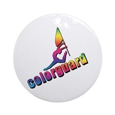 Colorful Colorguard Ornament (Round)