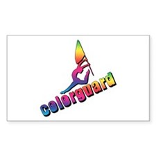 Colorful Colorguard Rectangle Decal