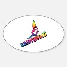 Colorful Colorguard Oval Decal