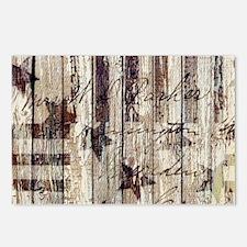 barn wood rustic American Postcards (Package of 8)