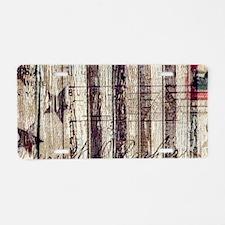 barn wood rustic Americana Aluminum License Plate