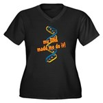 DNA Made Me Do It Women's Plus Size V-Neck Dark T-