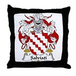 Salviati Family Crest Throw Pillow
