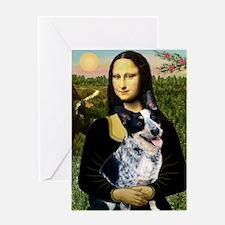 MonaLis-AussieCattleDog Greeting Card