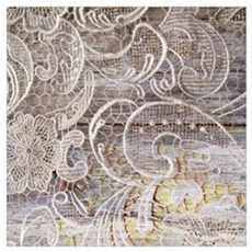 barn wood lace western country Poster