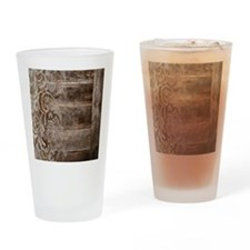 barn wood lace western country Drinking Glass