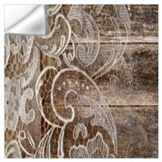 barn wood lace western country Wall Decal