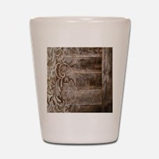 barn wood lace western country Shot Glass
