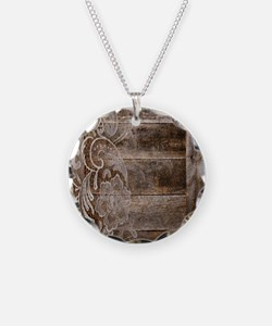 barn wood lace western count Necklace
