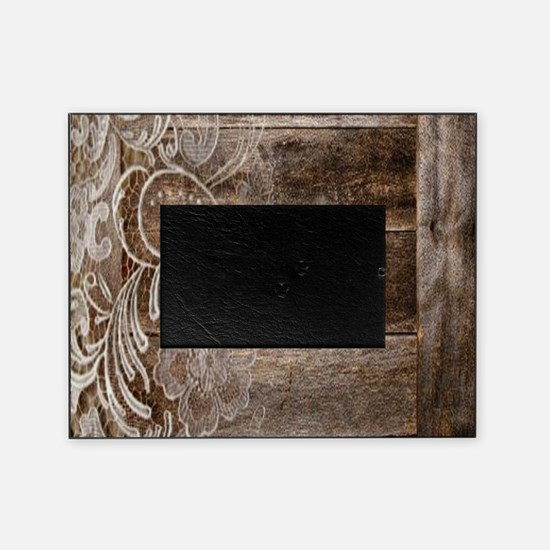 barn wood lace western country Picture Frame