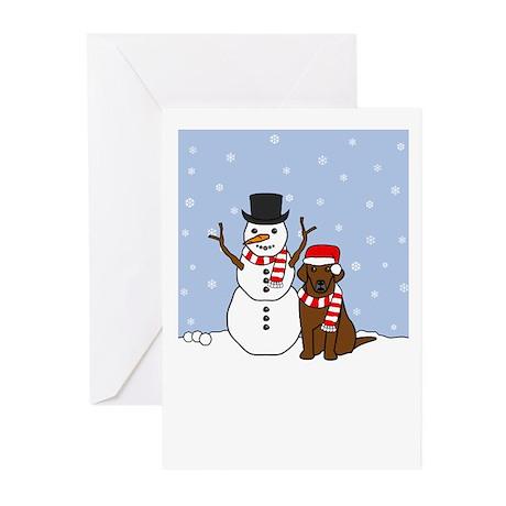 Chocolate Lab Season's Greeting Cards (Pk of 20)