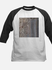 rustic country barn wood lace Baseball Jersey