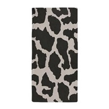 cowhide, cow pattern Beach Towel